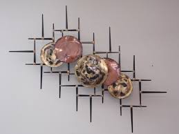 Mid Century Modern Brutalist Wall METAL Abstract Art Sculpture C Jere Style
