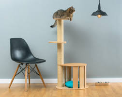 modern cat tower modern cat furniture etsy