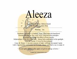 Aleeza name means joy – nydob