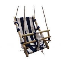 siege balancoire bébé balançoire bébé siège étoffe bleu la récré du bois