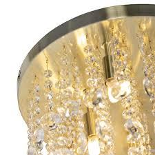 qazqa deco klassische deckenleuchte deckenle le leuchte gold messing messing 35 cm medusa wohnzimmer schlafzimmer küche