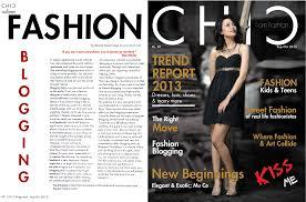 CHIC Fashion Magazine Blogging