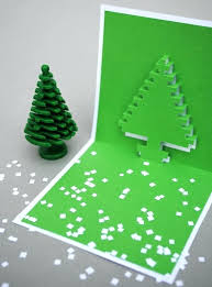 Christmas Pop Up Card Template Pixel Popup Cards Easy Tree Tutorial