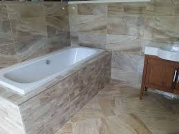 sand wall and floor tiles with matching decor