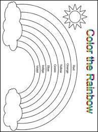 Customize Your Free Printable Color The Rainbow Kindergarten Worksheet