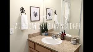 SMALL BATHROOM DECORATING IDEAS   DECOR ON A BUDGET - YouTube Bathroom Simple Ideas For Small Bathrooms 42 Remodel On A Budget For House My Small Bathroom Renovation Under And Ahead Of Schedule 30 Beautiful Renovation On A Budget Very With Mini Pendant Lamps In Reno Wall Tiles Design Great Improved Paint Colors Shower Pictures New Of R Best 111 Remodel First Apartment Ideas 90 Exclusive Tiny Layout