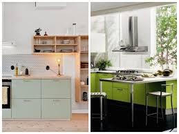 photos cuisine cuisine verte mur meubles électroménager déco clematc