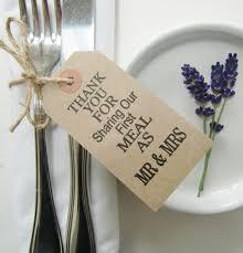 Rustic Wedding Napkin Ties Table Decor THANKYOU FOR