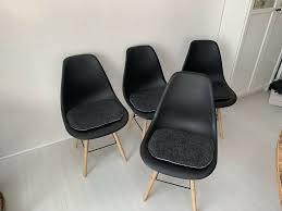 4 esszimmer stühle mit sitzkissen skandinavischer stil
