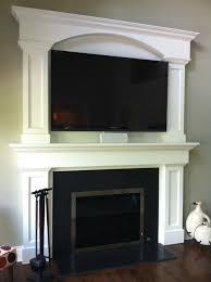 Batchelder Tile Fireplace Surround by Custom Fireplace Surround Tv Above Fireplace Granite Face Around