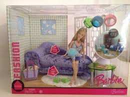 Barbie Living Room Playset by 2006 Barbie Fashion Fever Room Velvety Crush Couch Living Room