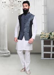 buy dark grey jacquard nehru jacket nehru jacket online shopping