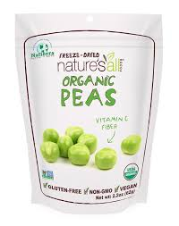 Natierra Nature s All Foods Organic Freeze Dried Peas 2 2 Ounce