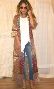 Shira Bohemian Patchwork Duster FashionFall