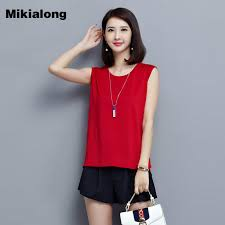 2017 New Korean Ladies Vest Cotton Black Red Loose Sleeveless Tshirt Women Fashion Plus Size Tops Camiseta Mujer M 5XL
