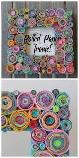 Upcycled Rolled Paper Frame Decoration Quilling Craft