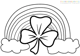 Incredible Design Ideas St Pattys Day Coloring Pages Patricks Rainbow 1000 Images About Patrick39s Work On