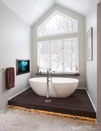 Tiling A Bathtub Deck by Bathroom Design Photos