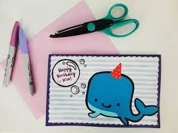 Sharpie whale card