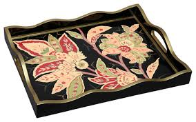 Allen G Designs Lovely Exotic Floral Motif With Handles