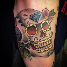 Mexican Sugar Skull Tattoo 4