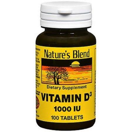 Nature's Blend Vitamin D3 1000iu Supplement - 100 Tablets