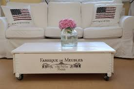 details about coffee table chest living room sofa solid wood vintage shabby loft white