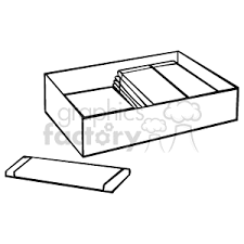 A black and white box of chewing gum with one laying on the table