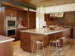 Image Of Dark Hardwood Floors With Maple Cabinets Style