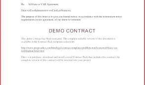 Purchase Contract Cancellation Agreement Template Letter Free Affiliate Partnership