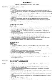 Download Retail Banking Resume Sample As Image File