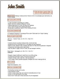 Cleaning Job Cv Sample Resume For Janitorial Position By John Smith Facile Plus