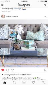 99 Inspiration Furniture Hours Grey Sofa With Light Blue And Cream Accent Pillows Living