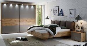 details zu schlafzimmer deltas 3 tlg komplettset schrank bett 180x200 basaltgrau wildeiche