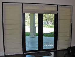 French Door Treatments Ideas by Captivating Roman Door Shades And Hobbled Roman Shades On French