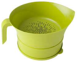 Oxo Over The Sink Colander by Easy Greasy Strain And Save Kitchen Colander U0026 Reviews Wayfair