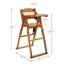 Abiie High Chair Amazon by Amazon Com Elenker Wooden Folding High Chair With Tray