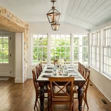 Sympathetic Addition Kennett Square Pa Farmhouse Dining Room Rh Houzz Com Off Kitchen