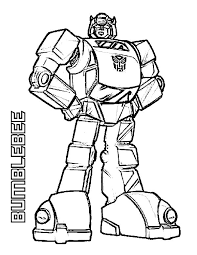Amazing Bumblebee Of Transformers Coloring Page