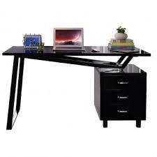 bureau informatique design informatique design noir brillant avec tiroirs de rangement