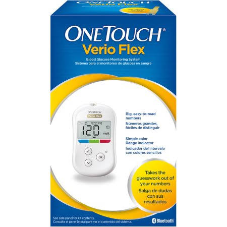OneTouch Verio Flex Blood Glucose Monitoring System Kit