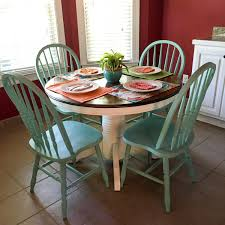 Turquoise And White Kitchen Table – Round Table Redo – The ... Stylish Painted Round Ding Table And Chairs Otograph Ding Table 6 Chairs Choice Of Fabrics In Rochdale Classy Glass Top Room Sets With Royal Thrill Of The Hunt Ashland Va Gypsy Soul Pictures Of Painted Tables Ugarelay Excellent Diy Projects Chalk Paint Makeover Sarah Joy Fancy Wooden Pedestal Base Wood For In Lovely Annie Sloan Old Ochrecocodark Wax Paint Fniture 4 Se18 Ldon Fr 9000 Ne34 Tyneside For 13000 Chair 40 Phomenal Small Kitchen