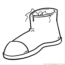 Shoes Coloring Page Download