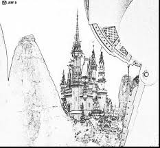 Fantastic Disney World Cinderella Castle Coloring Pages With And