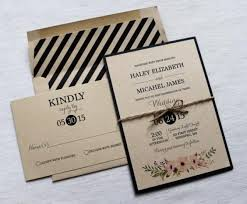 Modern Vintage Elegant Rustic Kraft Wedding Invitation The Perfect Mix Of And Elegance This Beautiful Is Printed On Eco
