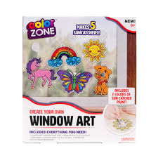 Michaels Art Desk Instructions by Color Zone Suncatcher Window Art Kit