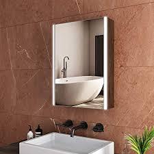 safeni led spiegelschrank 50x70x15cm badezimmer