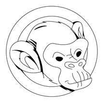 Monkeys Head Coloring Page
