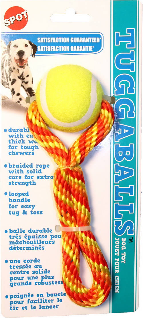Ethical Dog - Tuggaballs Tennis Ball/Rope Assorted / 7 inch