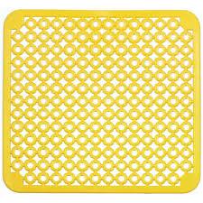 tapis d evier de cuisine tapis cuisine fond d evier jaune 30x30cm achat vente tapis d